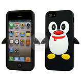 Apple iPhone 5 Schutzhülle Cover Case Pinguin Schwarz