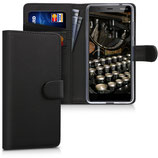 Wallet Case Hülle Nokia 5.1 (2018) Schwarz