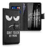 Wallet Case Hülle Wiko Lenny 3 Dont Touch Schwarz