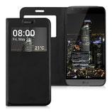 Flip Case Cover LG G5 Schwarz Fenster