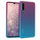 TPU Case Hülle Huawei P30 Pink-Blau