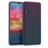 TPU Case Hülle Samsung Galaxy A70 Lila/Blau