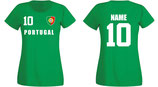 Portugal WM 2018 T-Shirt Damen Grün