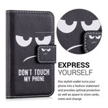 Wallet Case Hülle Apple iPhone 4 / 4S Dont touch