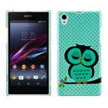 Hard Case Sony Xperia Z1 Eule Owl Grün