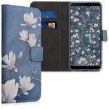 Wallet Case Samsung Galaxy A7 (2018) Magnolien Blau