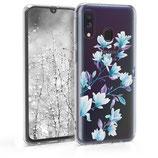 TPU Case Hülle Samsung Galaxy A40 Magnolien Weiss