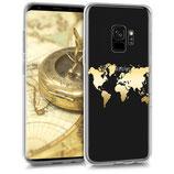 TPU Case Hülle Samsung Galaxy S9 Weltkarte