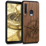 Walnussholz Case Samsung Galaxy A9 2018 Kompass