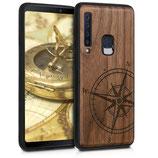 Walnussholz Case Samsung Galaxy A9 2018 Kompass