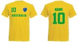 Australien WM 2018 T-Shirt Druck/Name Gelb