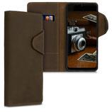 Wallet Case Samsung Galaxy A30s Echtleder Braun