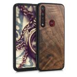 Holz Case Hülle Motorola Moto G8 Plus