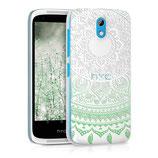 Crystal Case Hülle HTC Desire 526G Sonne Mint Grün