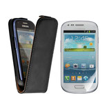LEDERTASCHE SAMSUNG GALAXY S3 MINI BLACK