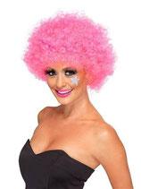 Perücke Lockenkopf Clown Pink Afroperück
