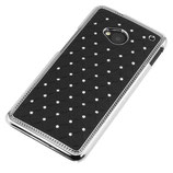 RHINESTONE HARD CASE HTC ONE M7 SCHWARZ