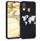 TPU Case Samsung Galaxy A40 Weltkarte