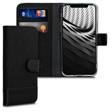 Wallet Case Apple iPhone 11 Pro Canvas Schwarz