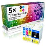 5x Tintenpatronen Epson T2711 - T2714