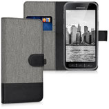 Wallet Case Samsung Galaxy Xcover 4 Canvas Grau