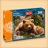 CARTA.MEDIA 7226 Braunbär Puzzle 200 Teile