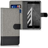 Wallet Case Huawei P10 Lite Canvas Grau