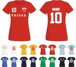 Polen WM 2018 T-Shirt Damen Rot