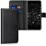 Wallet Case Hülle Nokia 6 Schwarz