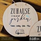 """Holzschild """"Camper Spruch"""" (20 cm)"""