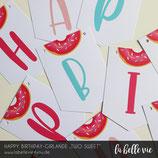 "Happy Birthday-Girlande ""Two Sweet"""