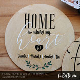 "Holzschild ""Home is ..."" (20 cm)"