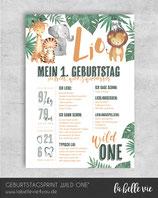 "Meilensteintafel ""Jungle"""