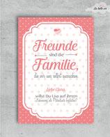 "Patenkarte ""Freunde sind ..."""