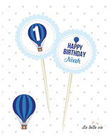 "12 Topper ""Heißluftballon"""