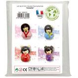 4 Stück Mini Kokeshi Puppen Mold
