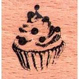 Holzstempel Cupcake