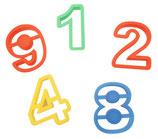 15 Figuren Ausstecher Set - Zahlen