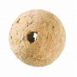 Korkperlen 20 mm  Loch: Ø 4 mm  -  4 Stück