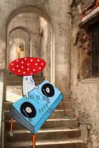 "Postcard ""DJ Mushroom"""