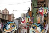 "Postcard ""Flying Fish in Megacity"""