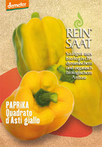 Paprika 'Quadrato d'Asti Giallo / Selekt. ReinSaat' (Bio-Saatgut, AT-BIO-301)