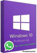 MS Windows 10 Pro Professional PRODUCT KEY - POSTBRIEF-VERSAND - 32 & 64 Bit - Vollversion - Original Produktschlüssel - 1 PC + Anleitung von U-S-B Unleashed-Shop-Bolt®