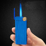 Feuerzeug - Nachfüllbar (Gas) - Sparsam - schickes Design«, Edles Design aus Metall, langlebig, auch bei Wind anzuzünden