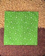 Kirschensteine / Traubenkernkissen Kiwigrün mit weissen Sternen 05