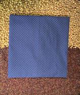 Kirschensteine / Traubenkernkissen blau mit weissen Punkten klein 09