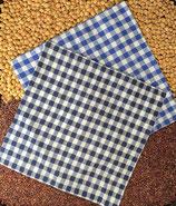 Kirschensteine / Traubenkernkissen Kariert mit Herzen Blau 13