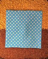Kirschensteine / Traubenkernkissen blau (Türkis) mit weissen Sternen 02