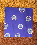 Kirschensteine / Traubenkernkissen Blau mit Kreismuster 15