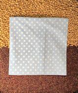 Kirschensteine / Traubenkernkissen hellblau mit weissen Sternen 03